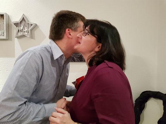 Marc Studerus und Karin Ammann: fleissiger Probenbesuch (Marc) und Kant. Veteranin (Karin)