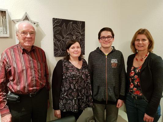 Die Muko komplett, neu mit Kian (2. v. r.) - bisher: Heinz Byland, Peggy Studerus und Eveline Keller