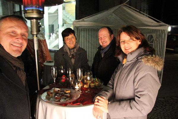 Stefan Schwendimann, Harald Aichhorn mit Gattin & Claudia Schwendimann