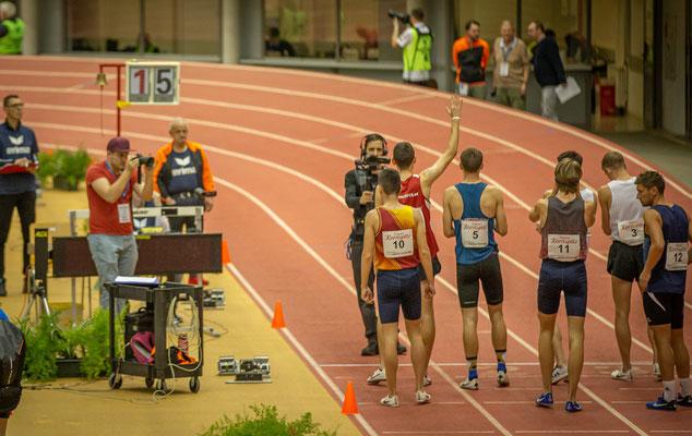 Athletenvorstellung vor dem Start