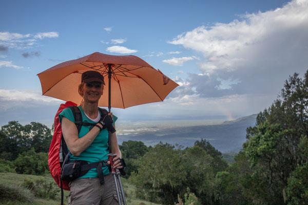 Der Regenschirm war jedenfalls ein nützlicher Begleiter.