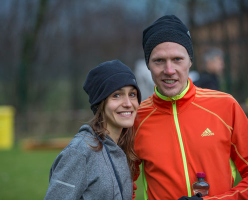 Nada Pauer mit ihrem Lebensgefährten Richard Ringer, dem Sieger im Männerrennen