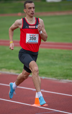 Edin Harbas wird über 600m Zweiter in 1:33