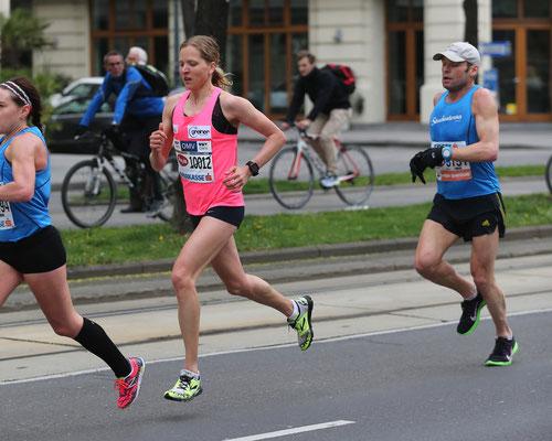 Anita Baierl beim Halbmarathon, den sie leider nicht beendete.