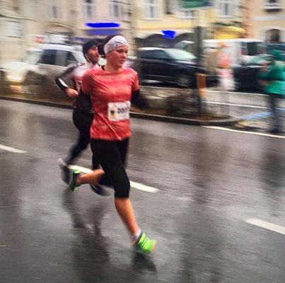 Tanja Stroschneider in Mödling auf dem Weg zu einer neuen 5km-Bestzeit
