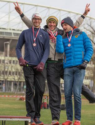 unser Team auf der Langstrecke, Phlip Hantschk, Martin Mistelbauer und Johann Neumüller
