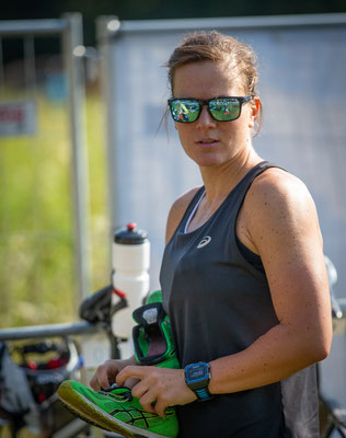 Tanja vor dem Rennen