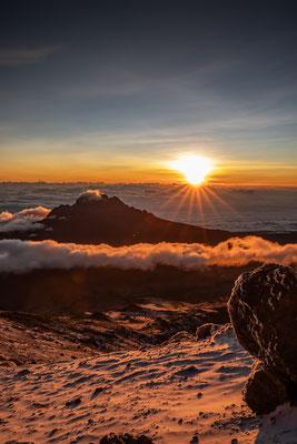 faszinierender Moment auf ca. 5500m Höhe als die Sonne aufging