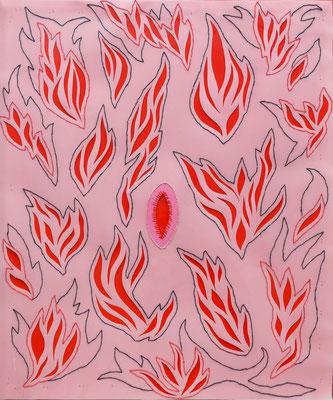 """""""Pecadora"""" - Serie Sexopatías - 60 x 50 cm - Técnica mixta - 2014"""