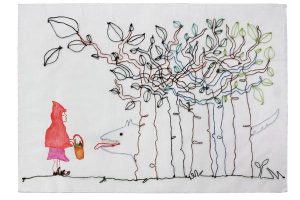 """""""No te tengo miedo"""" - Serie Los Miedos - 35 x 50 cm - Técnica mixta - 2013"""