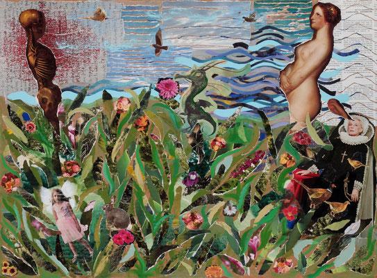 """""""Percepciones"""" - Serie Los Miedos - 56 x 76 cm - Collage - 2009"""