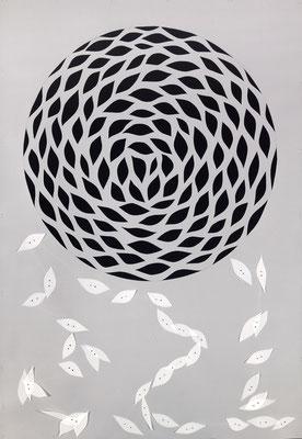 """Otoño Circular"" - Serie Naturalia - 92 x 64 cm - Técnica mixta - 2013"