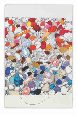 """""""Black pebble"""" - Serie Naturalia - 102 x 66 cm - Técnica mixta - 2014"""