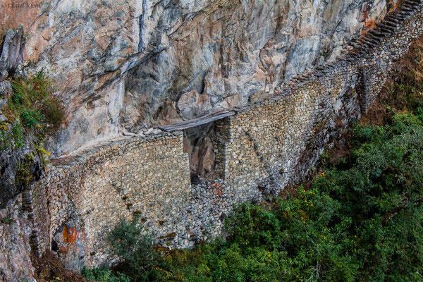 old Inka bridge / Machu Picchu -- Peru