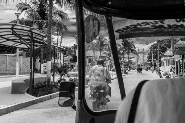tuck-tuck driving in Puerto Maldonado  -- Peru / Centro De Rescate Taricaya