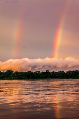 Double rainbow on the Madre de Dios -- Peru / Centro De Rescate Taricaya