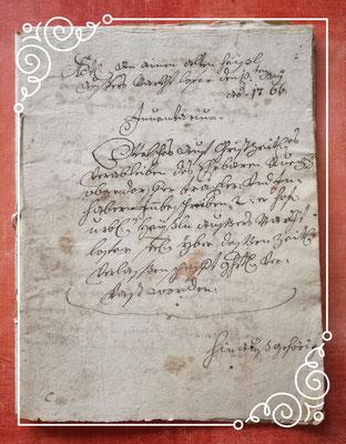 Urkunde aus dem Jahre 1766