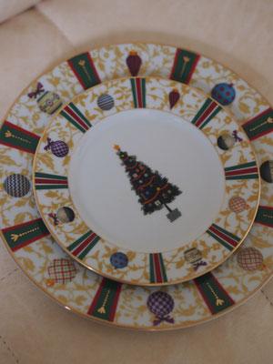 ポーセラーツクリスマスプレート2枚