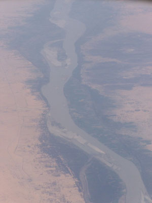 Le Nil , vu d' avion