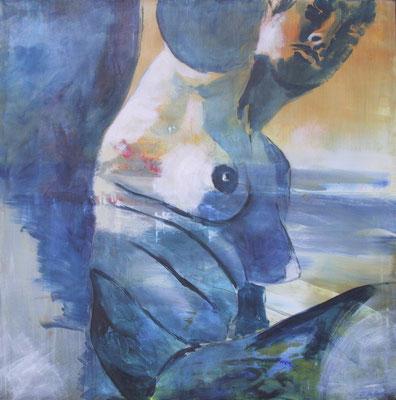 ausblick, acryl auf leinwand, 2002, 130x130 cm