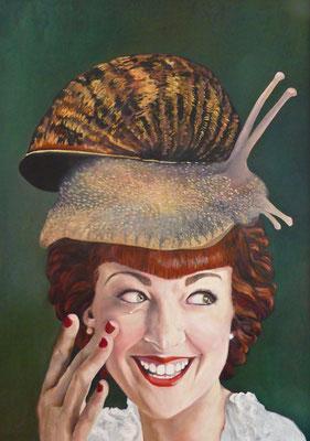 Carolina Edle von Schneckenbrot | 2015 | 120 x85 | Acryl auf Baumwolle