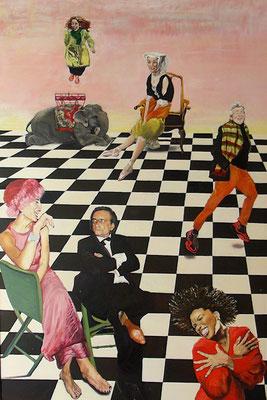 Schachmatt | 2015 | 165 x 110 cm | Öl auf Baumwolle