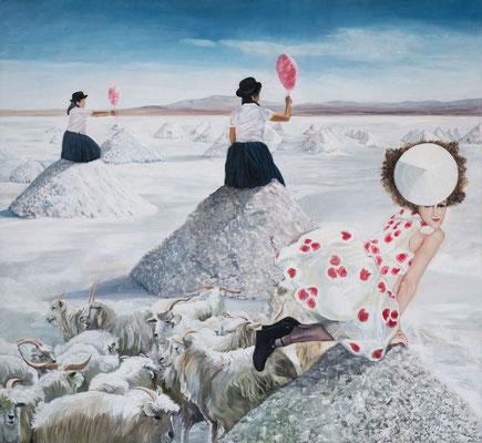 Salz und Zucker | 2017 | 120 x 130 cm | Öl auf Baumwolle