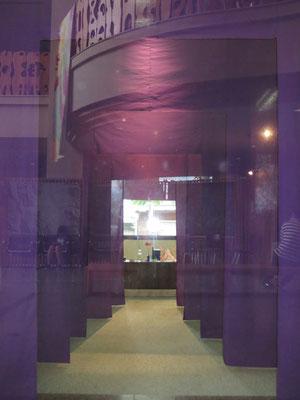 図書館ホールから見た展示(上座敷)しつらえ空間①