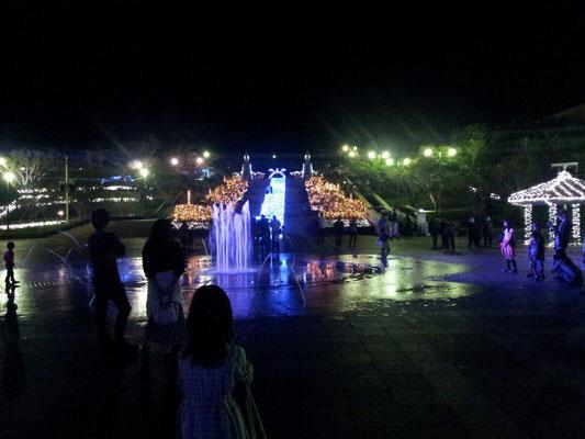 海洋博公園のイルミネーション。