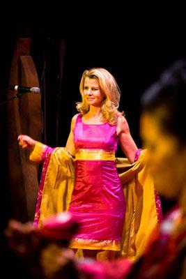 Sari-Kleid mit Mantel Innensicht