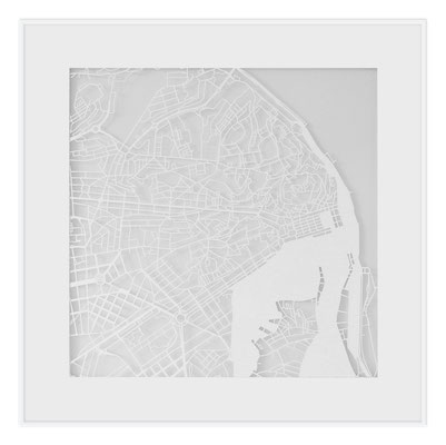 "Lisbon, ""The Angel of Lisbon"", 2013. 500x500 mm, hand-cut paper."
