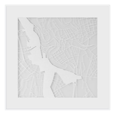 "Luxembourg, ""The Angel of Luxembourg"", 2013. 500x500 mm, hand-cut paper."