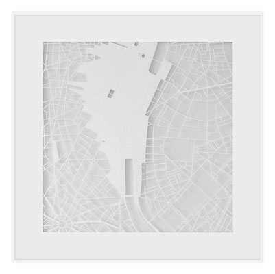 "Paris, ""The Angel of Paris"", 2013. 500x500 mm, hand-cut paper."
