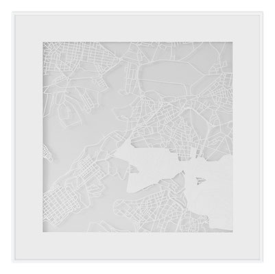 "Valletta, ""The Angel of Valletta"", 2013. 500x500 mm, hand-cut paper."