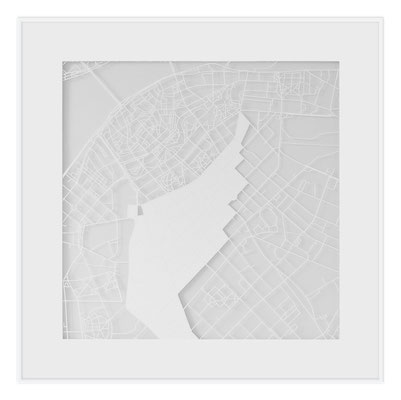 "Riga, ""The Angel of Riga"", 2013. 500x500 mm, hand-cut paper."