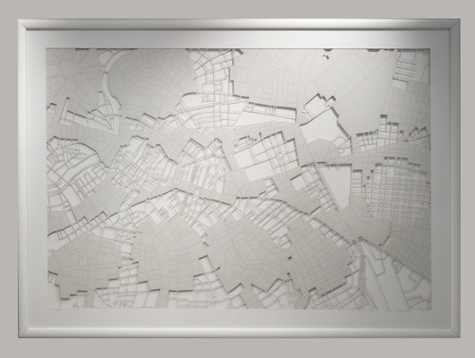 "Vienna, ""Winter"", 2014. 900x600 mm, hand-cut paper."