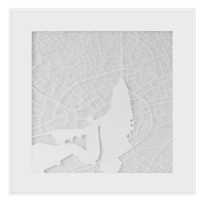 "Tallinn, ""The Angel of Tallinn"", 2013. 500x500 mm, hand-cut paper."