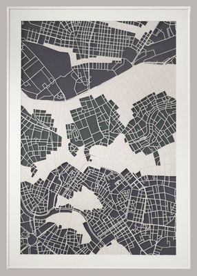 "Vienna, ""Water, Earth, Air"", 2013. 600x900 mm, hand-cut paper."