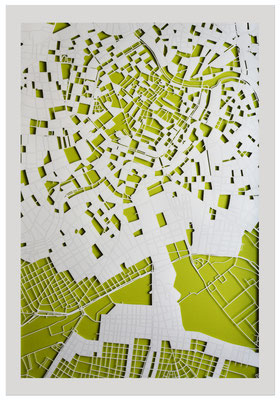 "Vienna, ""Blossoming"", 2013. 600x900 mm, hand-cut paper."
