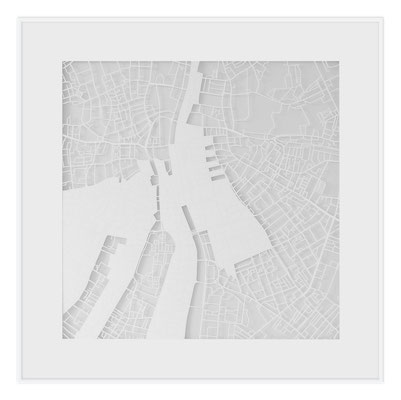 "Dublin, ""The Angel of Dublin"", 2013. 500x500 mm, hand-cut paper."