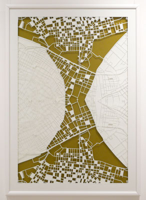 "Vienna, ""Affinity II"",  2014. 600x900 mm, hand-cut paper."