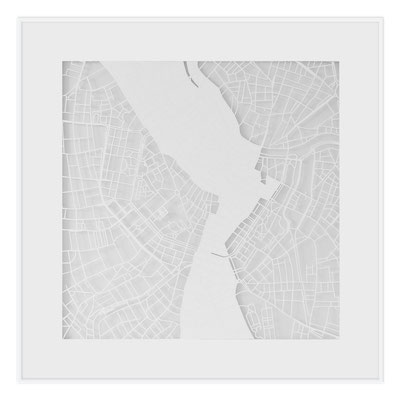 "Vienna, ""The Angel of Vienna"", 2013. 500x500 mm, hand-cut paper."