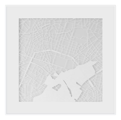 "Brussels, ""The Angel of Brussels"", 2013. 500x500 mm, hand-cut paper."