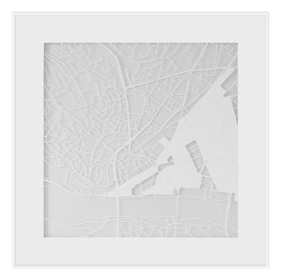 "Bratislava, ""The Angel of Bratislava"", 2013. 500x500 mm, hand-cut paper."