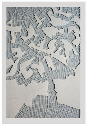 "Vienna, ""Tree of life"", 2013. 600x900 mm, hand-cut paper."