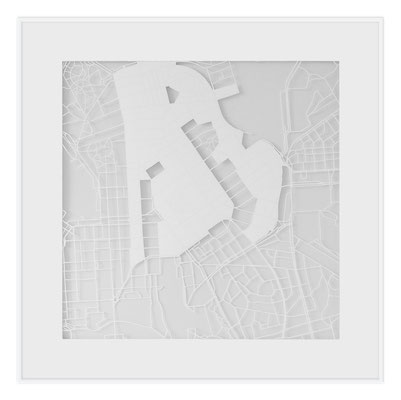 "Helsinki, ""The Angel of Helsinki"", 2013. 500x500 mm, hand-cut paper."