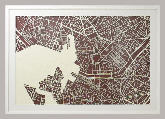 "Paris, ""Chimera I"" 2014. 900x700 mm, hand-cut paper."