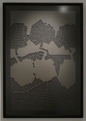 "Vienna, ""Dusk"", 2013. 600x900 mm, hand-cut paper."