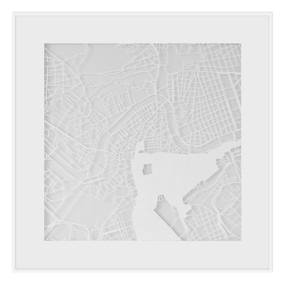 "Rome, ""The Angel of Rome"", 2013. 500x500 mm, hand-cut paper."
