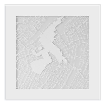 "Copenhagen, ""The Angel of Copenhagen"", 2013. 500x500 mm, hand-cut paper."